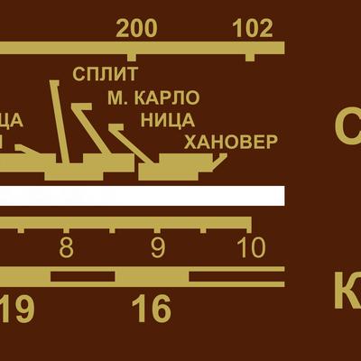 Радиоскала Радио РМС 10