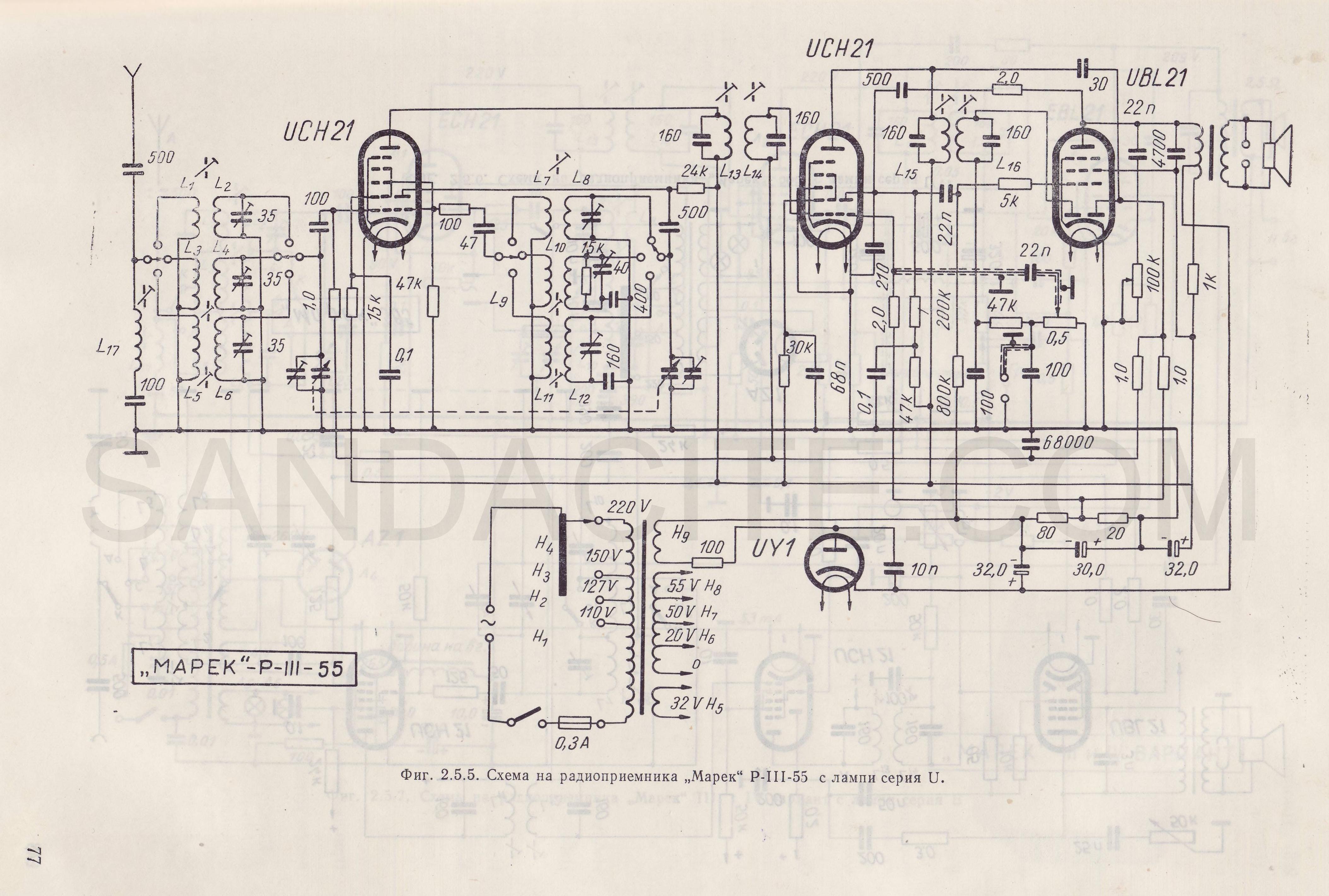 Марек Р III 55 с лампи серия U