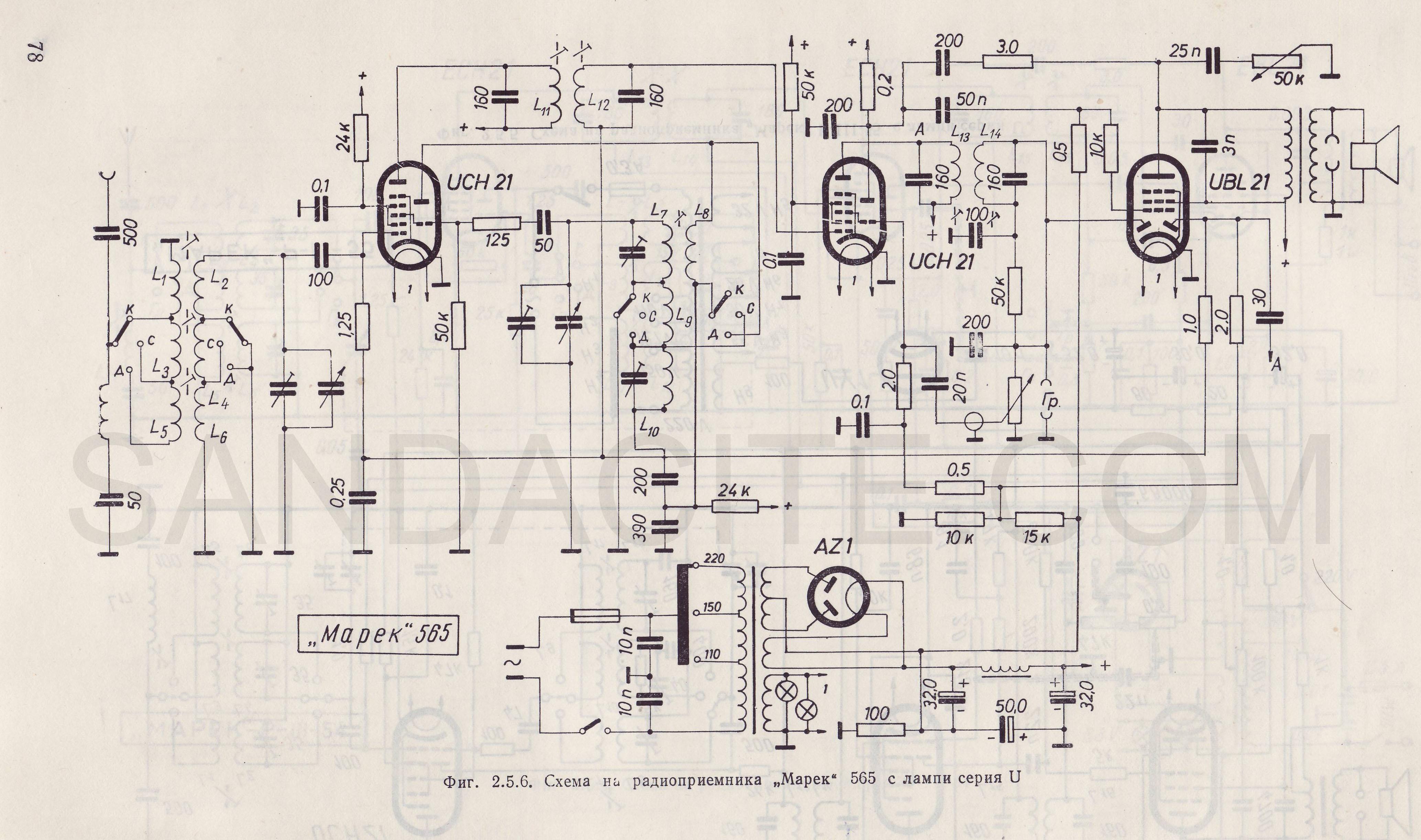 Марек 565 с лампи серия U